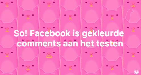 Facebook gekleurde comments