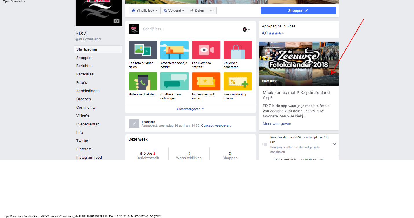 Facebook als website; nieuw van Facebook 'Your Story'