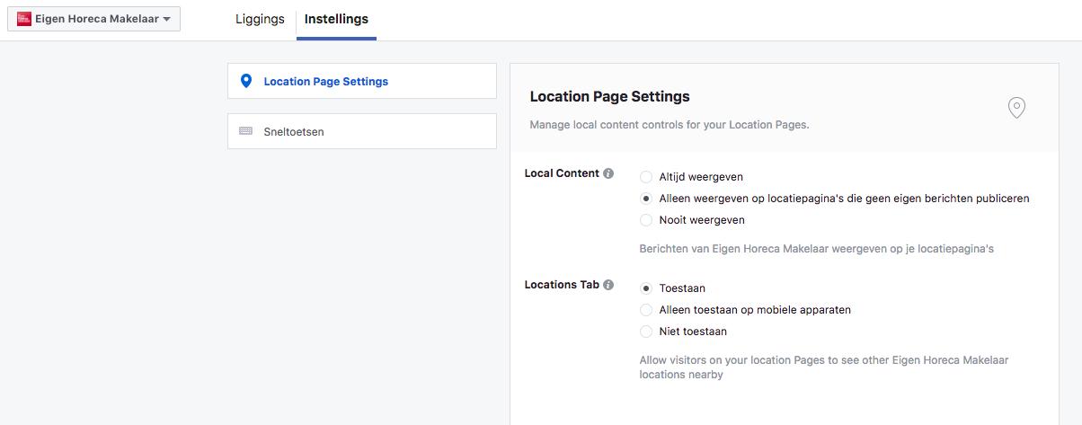 Locatie marketing Facebook