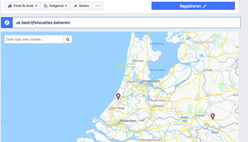 Facebook locaties beheren