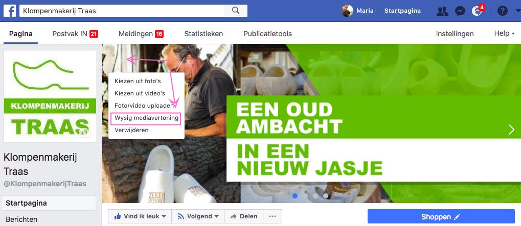 Slideshow maken op je Facebook Pagina in 3 stappen