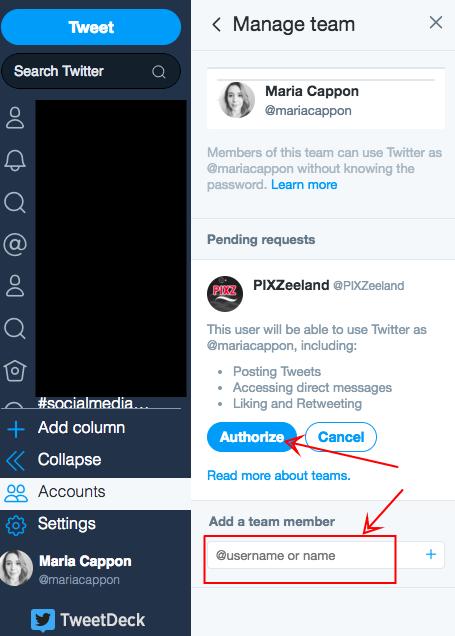 Stap 3 Twitter multiple users zakelijk account