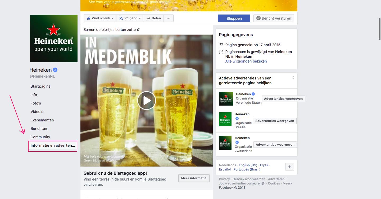 Welke Facebook advertenties toont welk bedrijf?