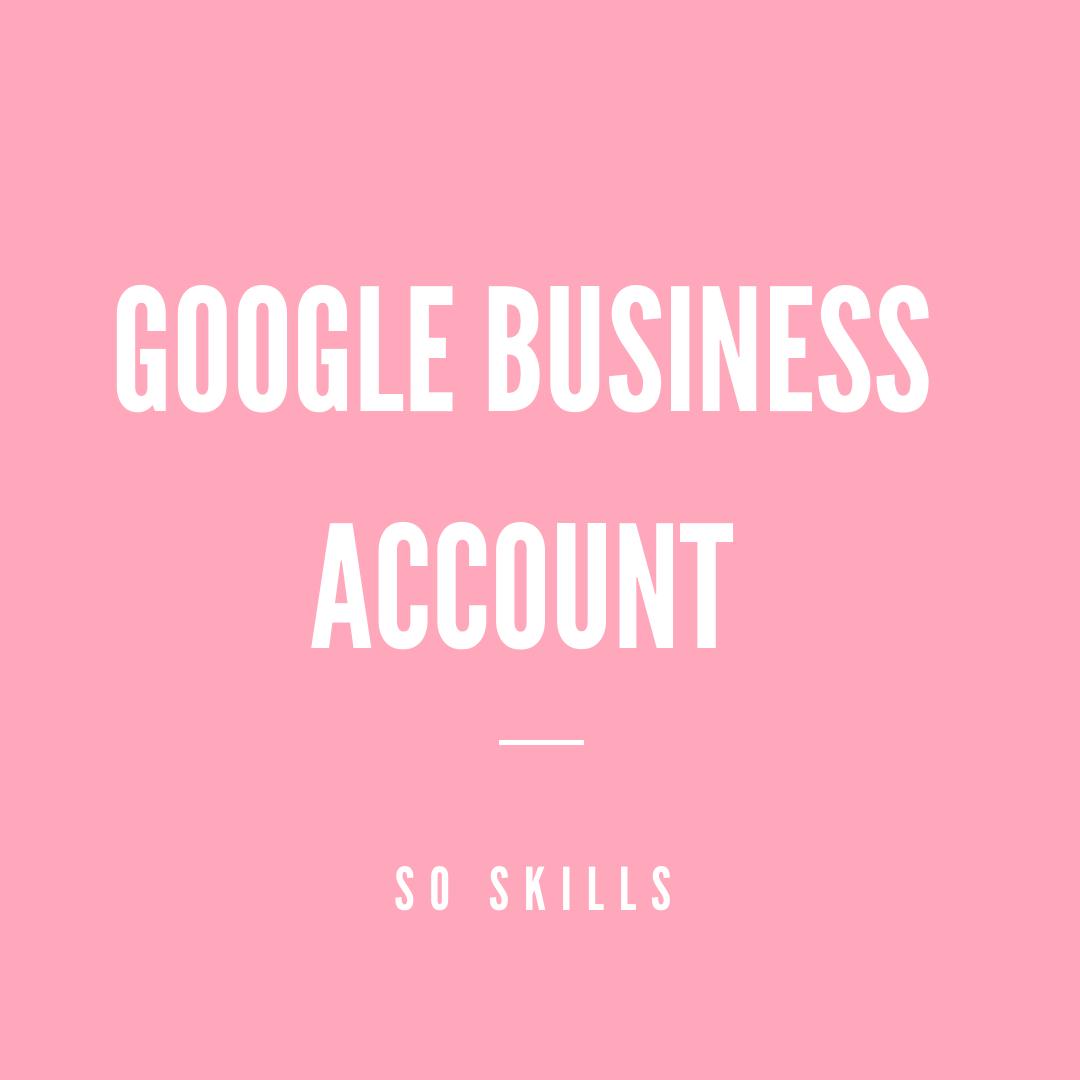 Google Business Account maken