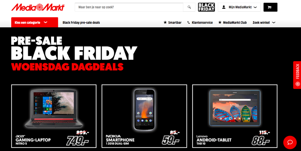 Pre Sale Black Friday bij de Media Markt