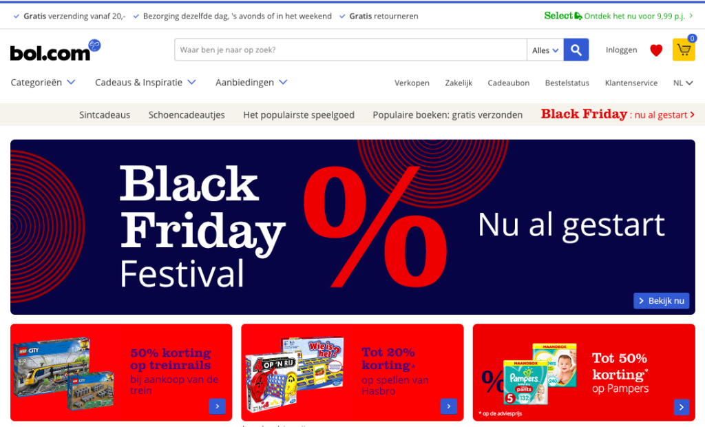 Black Friday Festival Bol.com