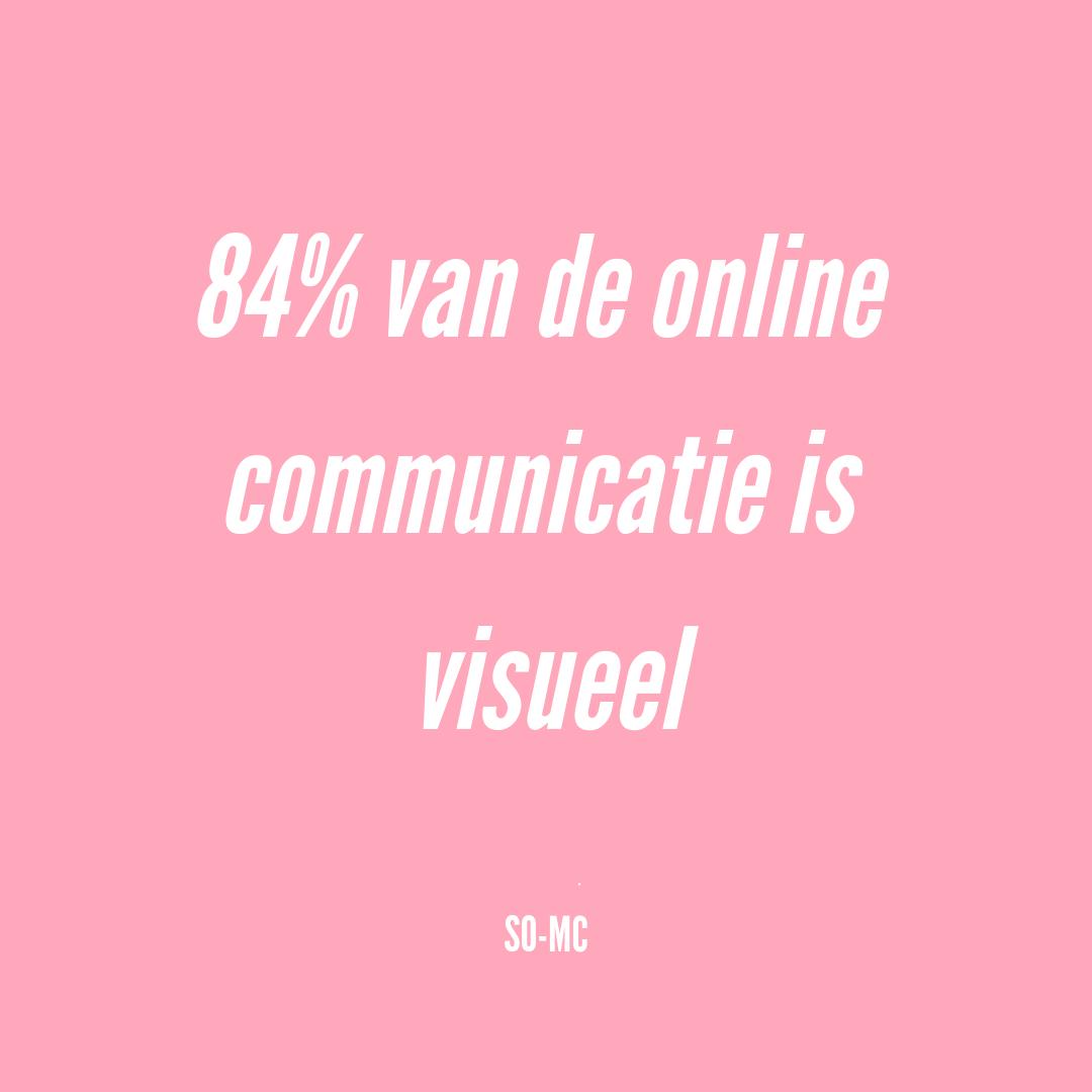 84% van de online communicatie gaat visueel