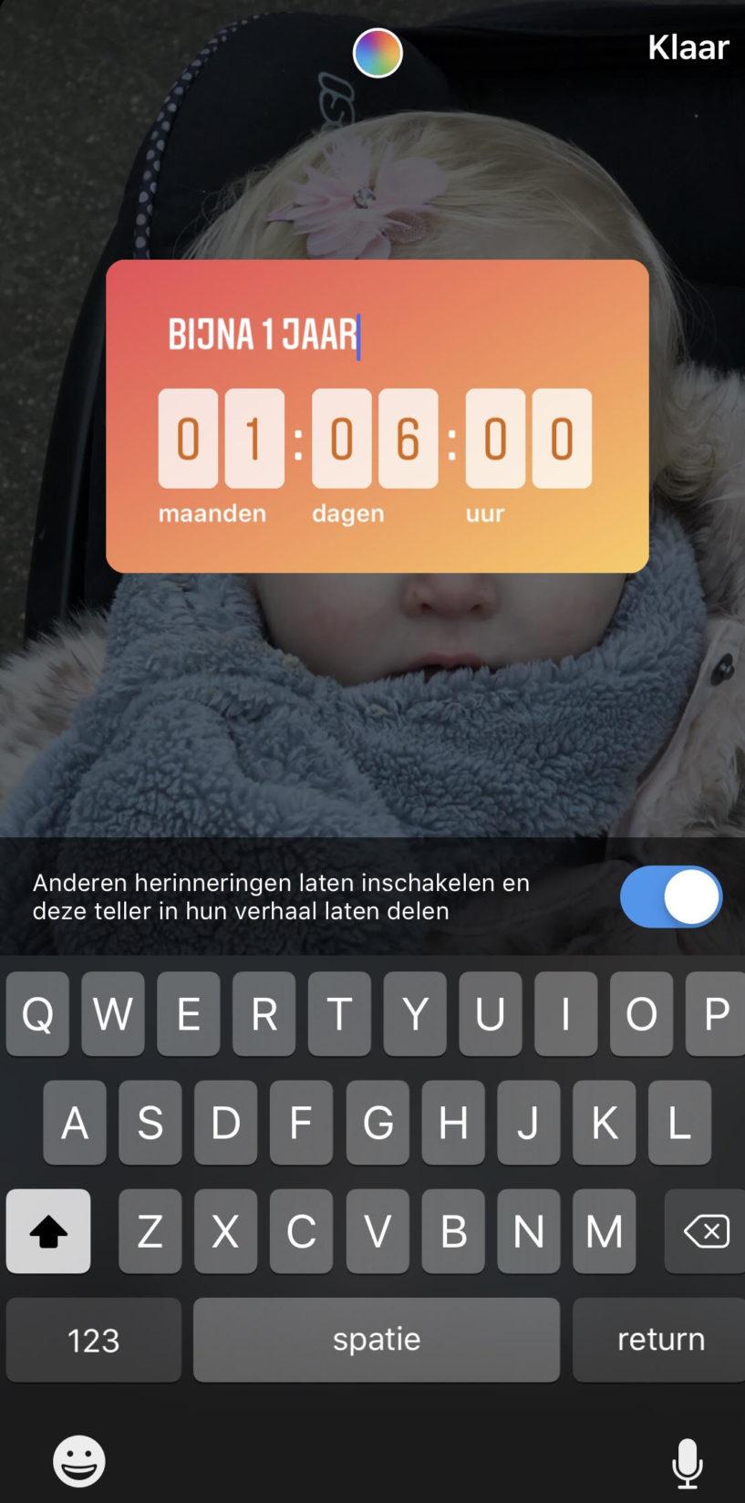 Instagram Story Marketing Aftellen oranje