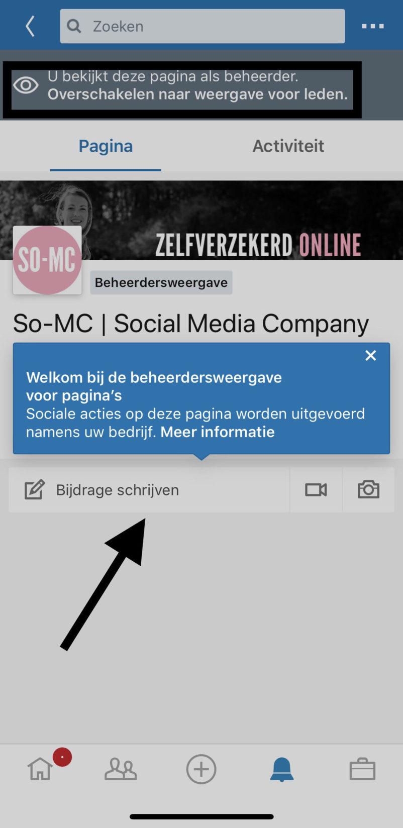 Social Media Linkedin beheren