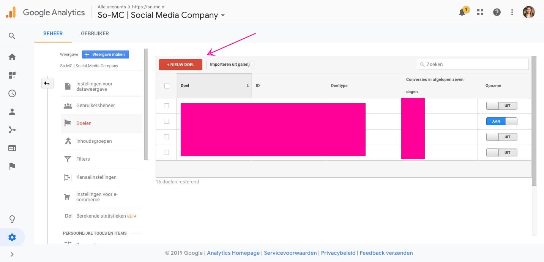 Hoe stel je doelen in Google Analytics