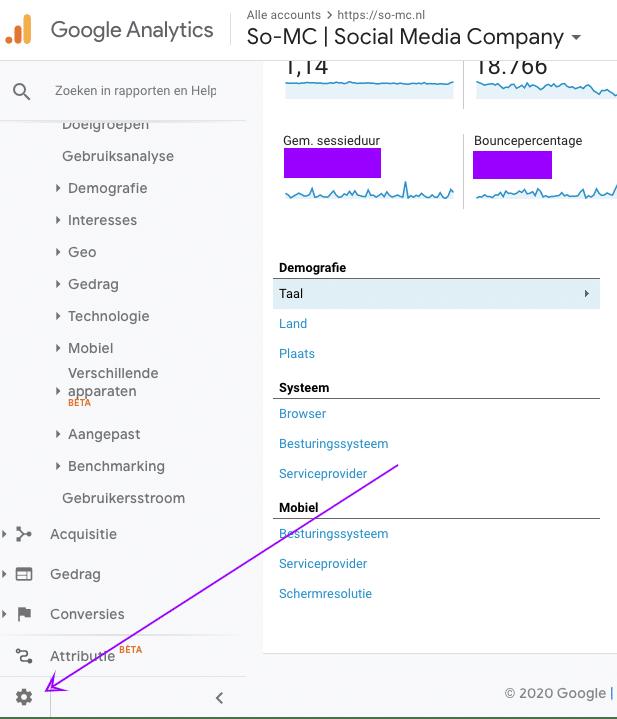 Hoe voeg je in Google Analytics een beheerder toe?