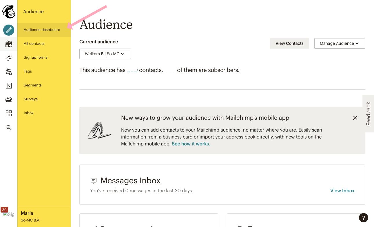 Hoe verwijder je een lijst in Mailchimp?